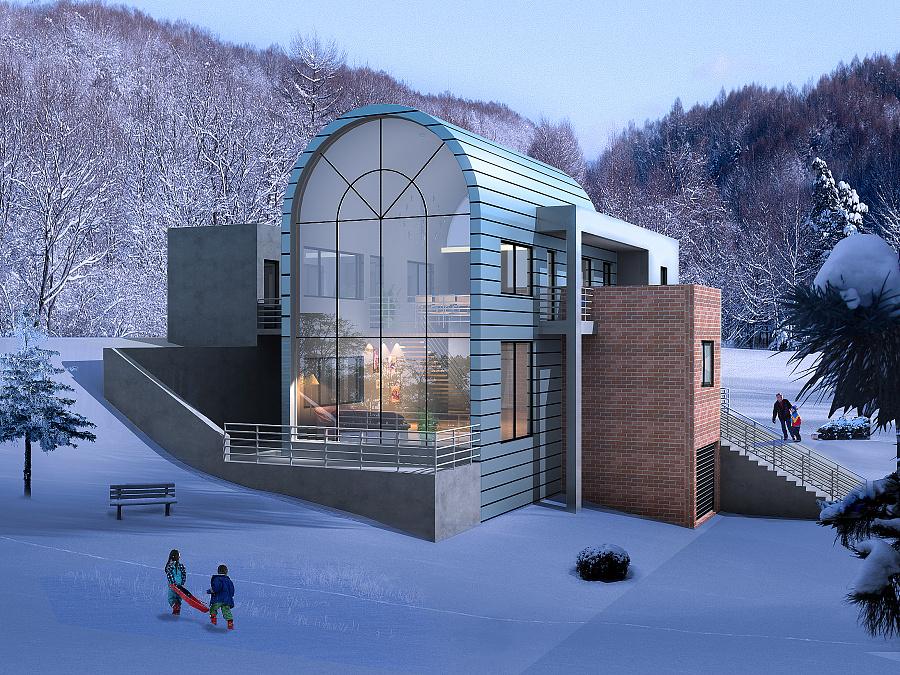 环境艺术设计,雪景